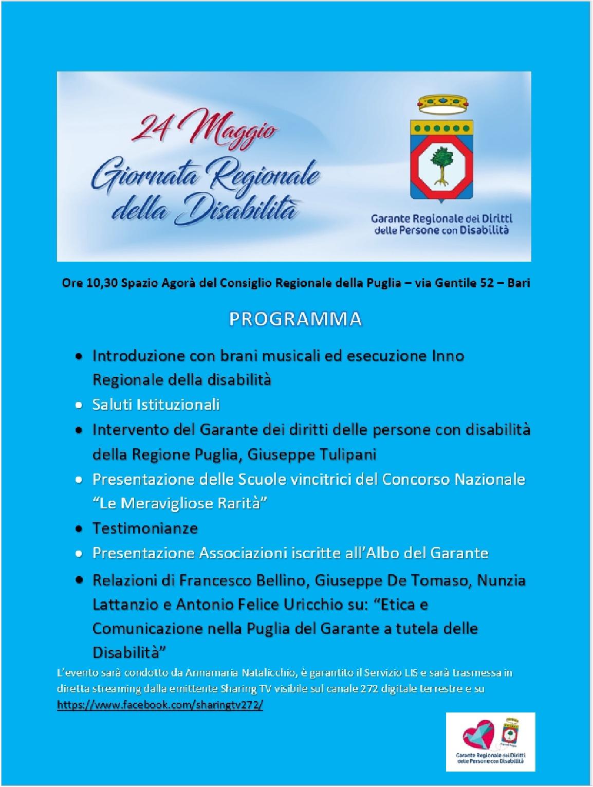 Programma Giornata regionale della Disabilita 2019