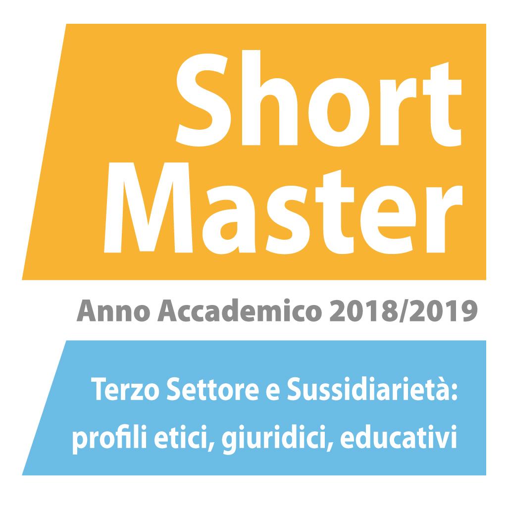 banner Short Master Terzo Settore e Sussidiarietà 2019