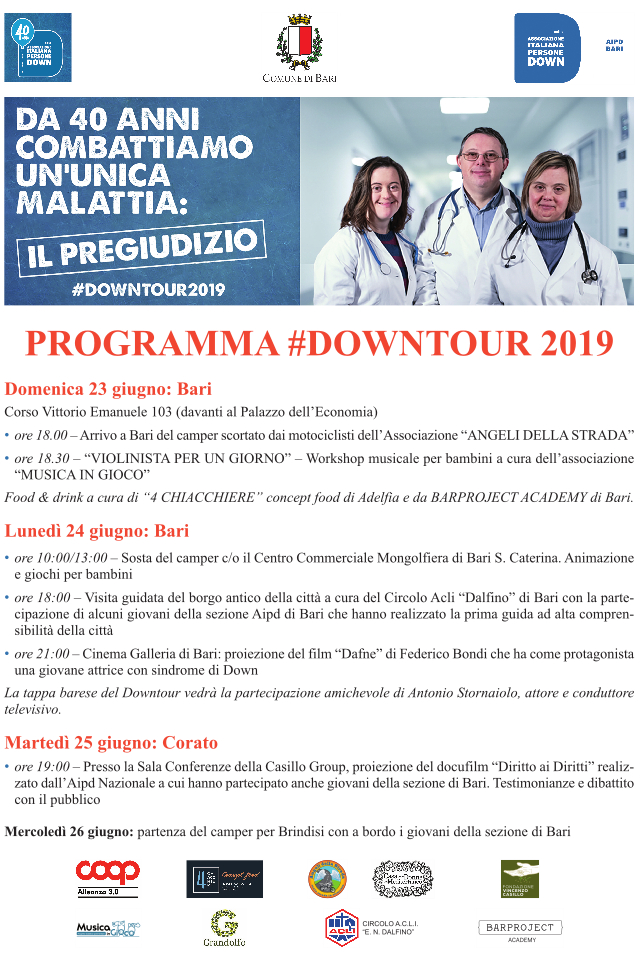 programma Downtour 2019 AIPD