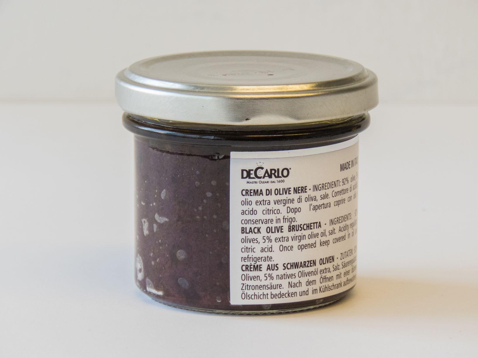 Crema di olive nere - DeCarlo - Volontariato in Corsa