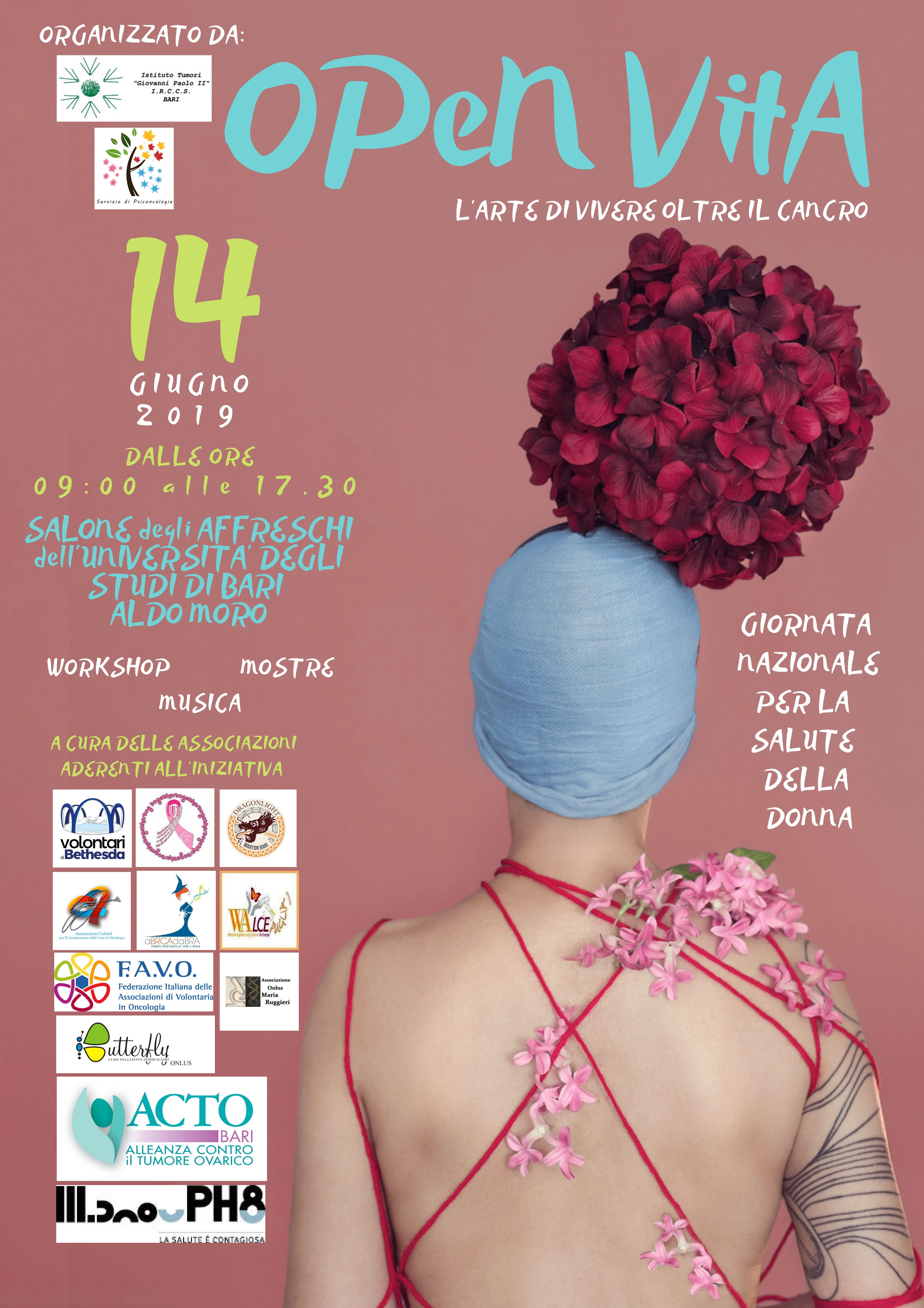 Locandina Open Vita l'arte di Vivere - Giornata Nazionale della Salute della Donna