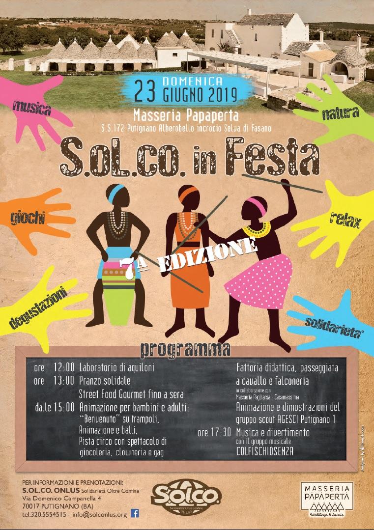locandina Solco in festa 23 giugno 2019 Alberobello