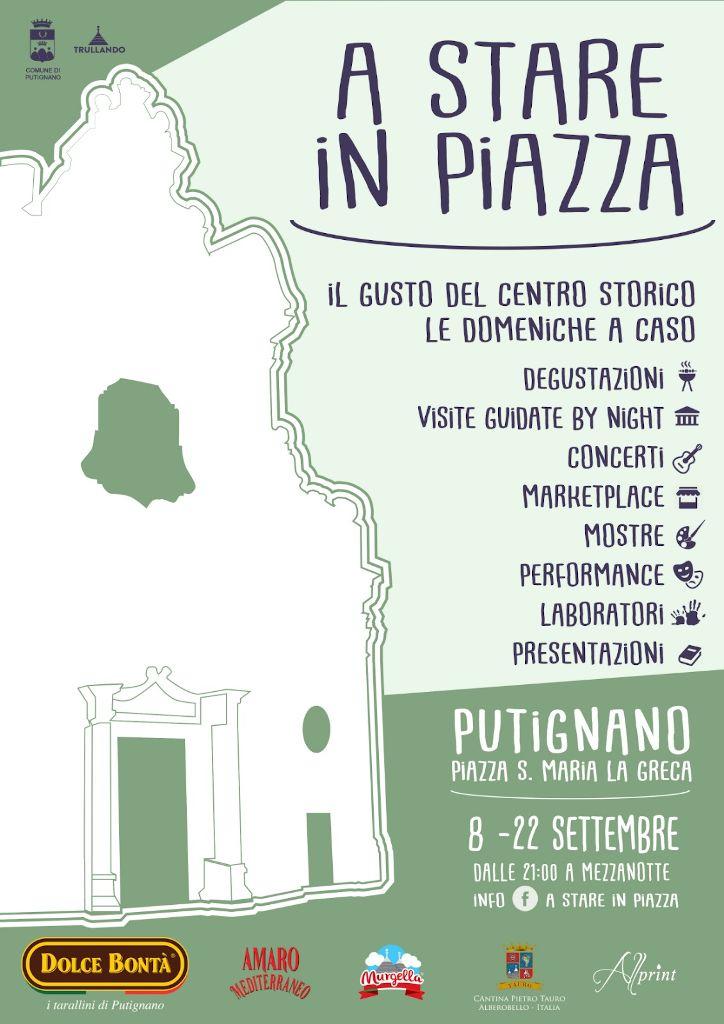 locandina A Stare in Piazza 2019 Putignano - Associazione Trullando