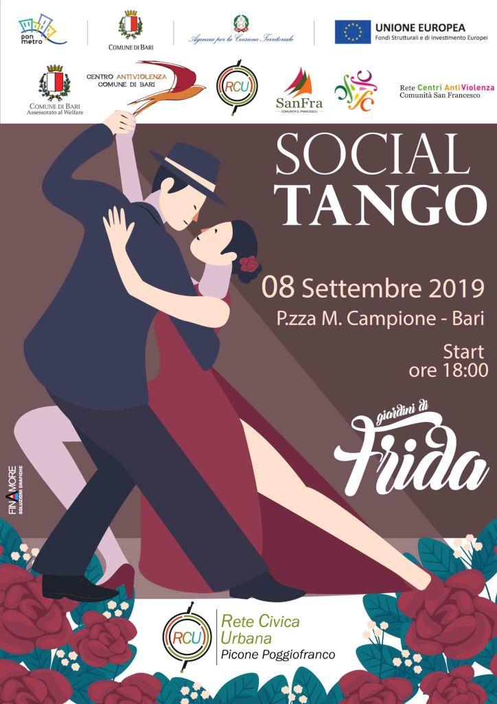 locandina Social Tango Centro Antiviolenza Bari Picone Poggiofranco
