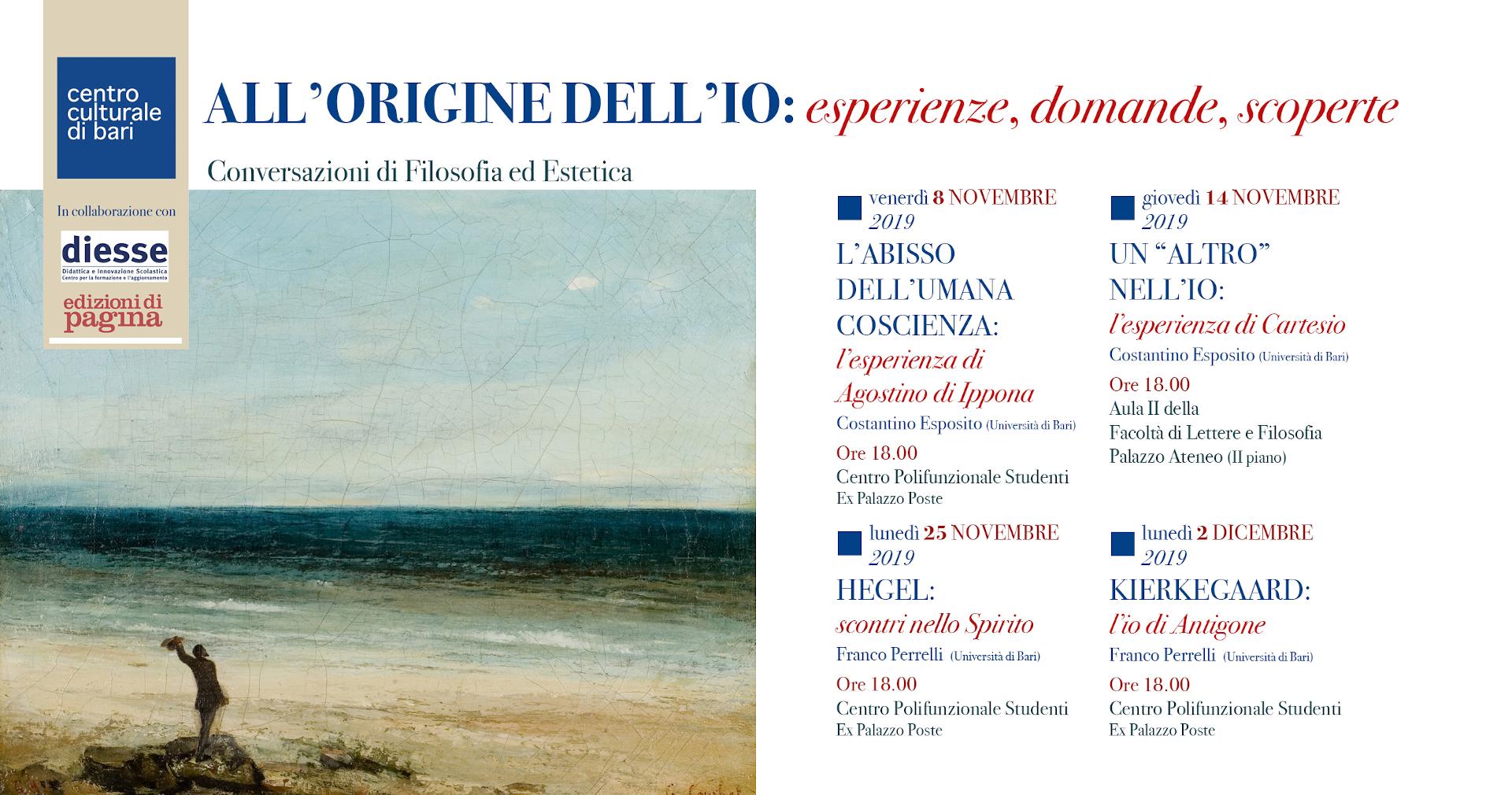 invito ALL'ORIGINE DELL'IO 2019 - Centro Culturale di Bari