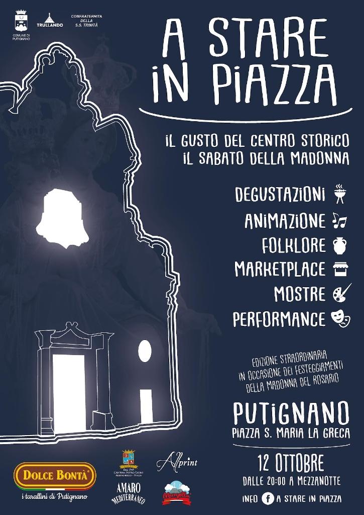 locandina A Stare in Piazza - Il gusto del centro storico il sabato della Madonna 2019 1024