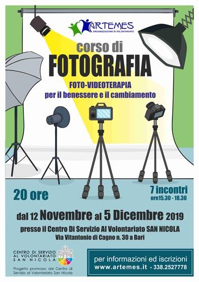 locandina Fotovideoterapia benessere e cambiamento ARTEMES prog CSVSN ec