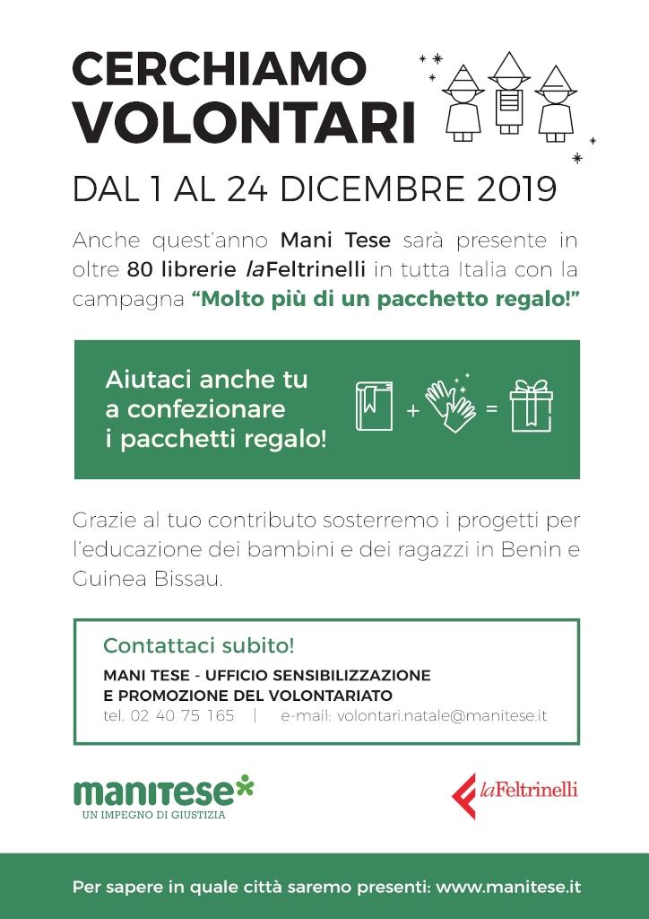 locandina Mani Tese cerca volontari 2019