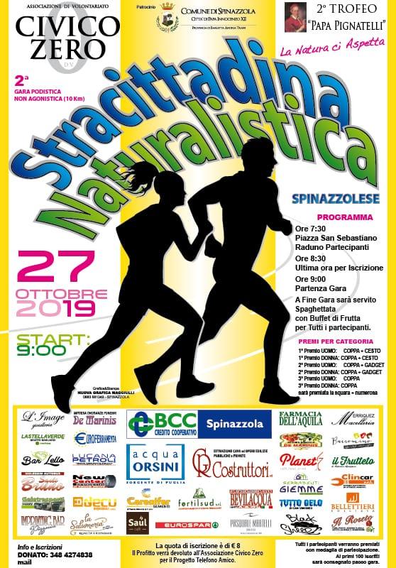 locandina Stracittadina Naturalistica Spinazzolese Ottobre 2019