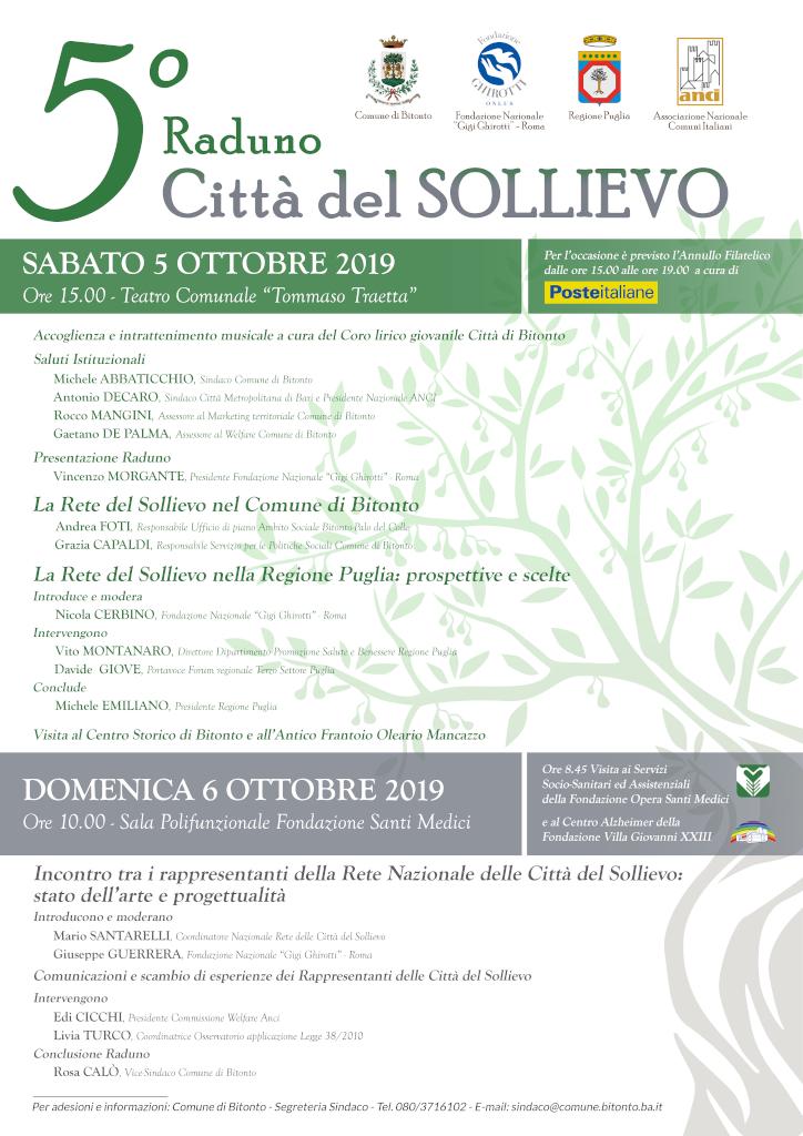 locandina V Raduno Città del Sollievo - Bitonto 2019 1024