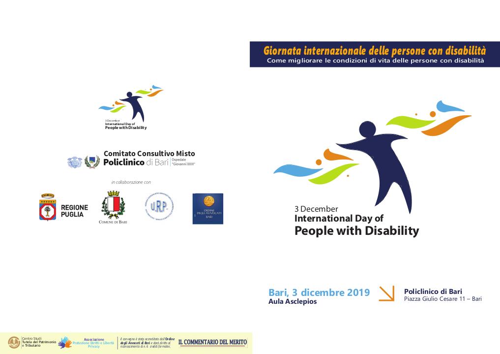 Brochure Come migliorare le condizioni di vita del disabile 2019
