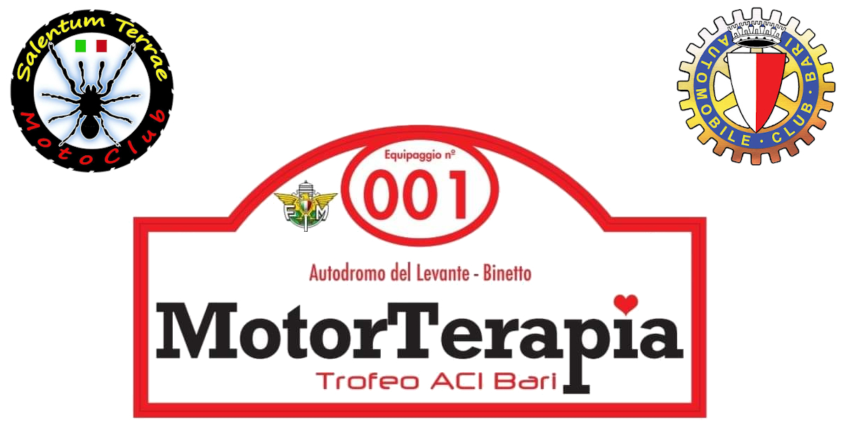 Giornata della MotorTerapia, trofeo ACI Bari. - Motoclub Salentum Terrae 2019