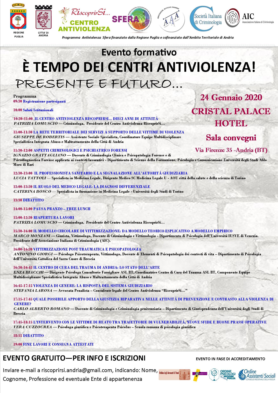 locandina È tempo dei Centri antiviolenza! Presente e futuro