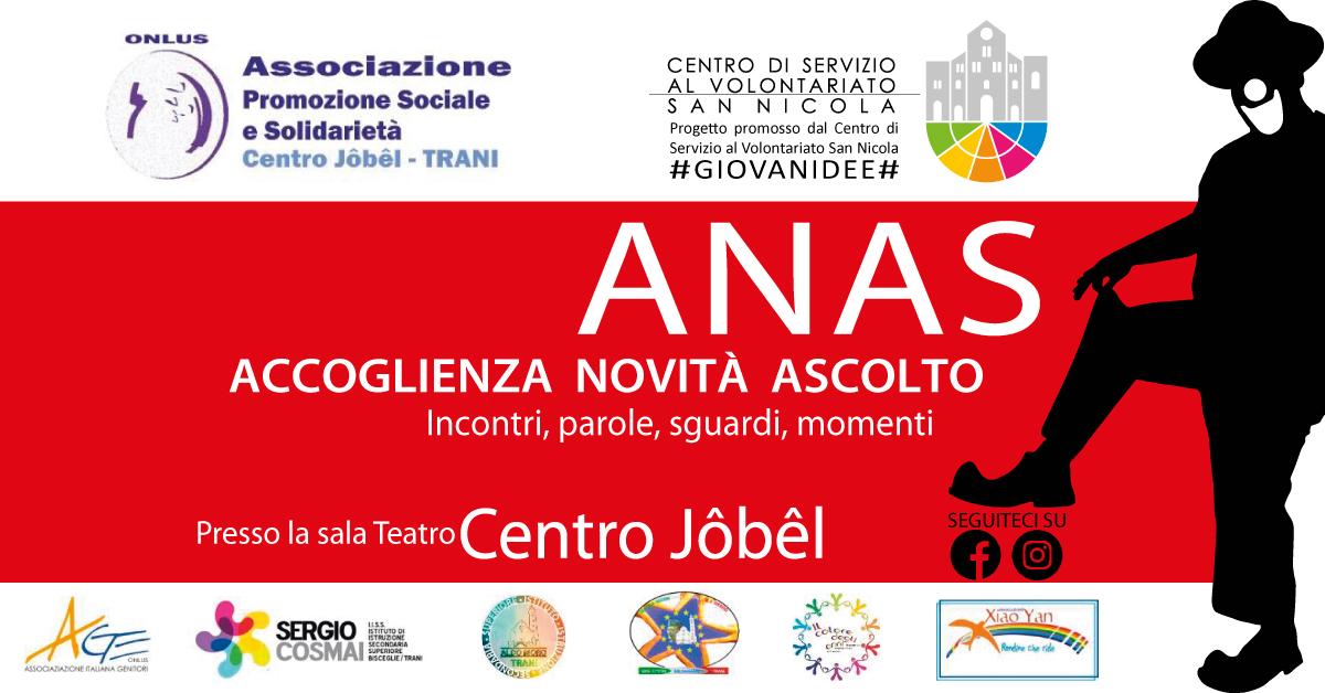 Banner ANAS – Accoglienza Novità Ascolto Solidarietà