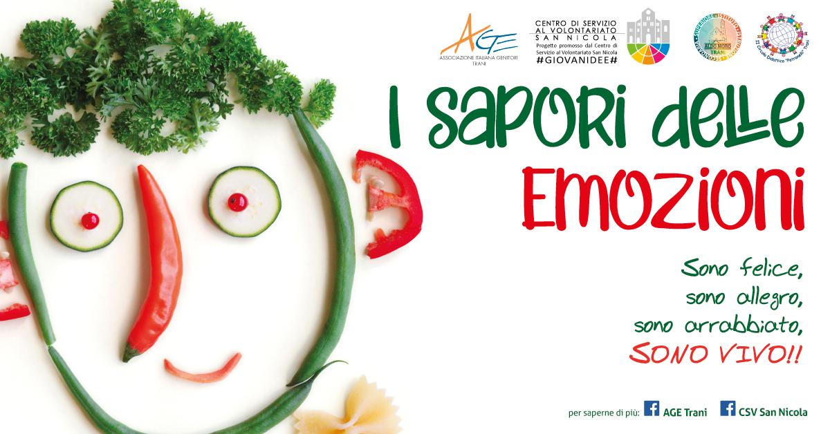 Banner I sapori delle emozioni - AGE Trani - #GIOVANIDEE CSVSN