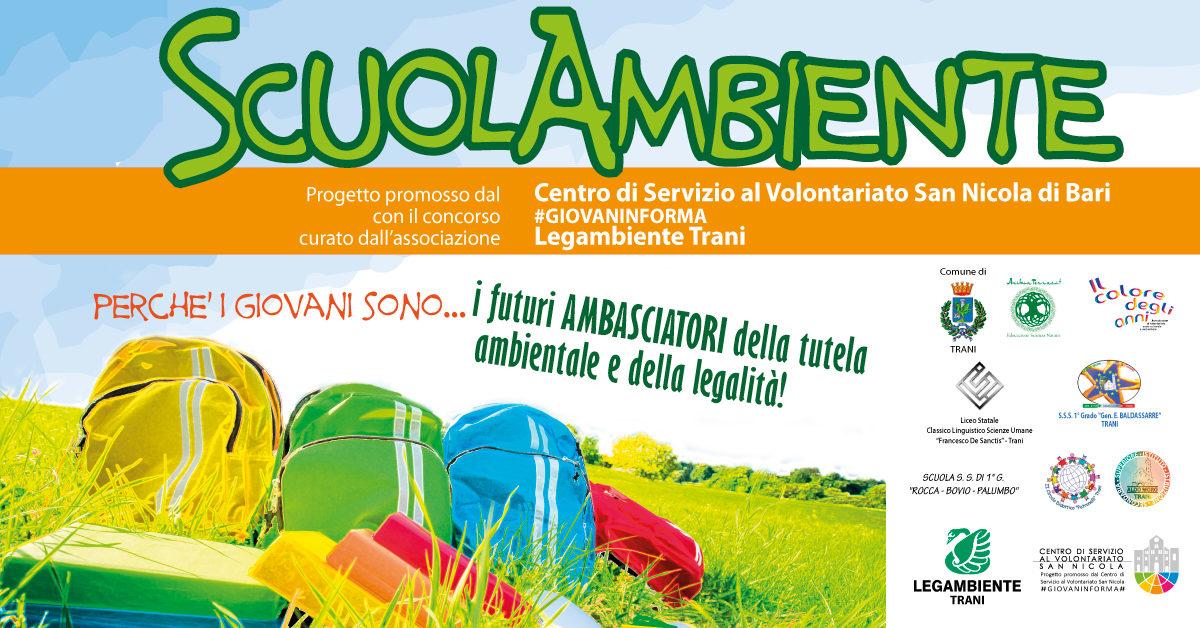Banner ScuolAmbiente Legambiente #GIOVANINFORMA - CSVSN