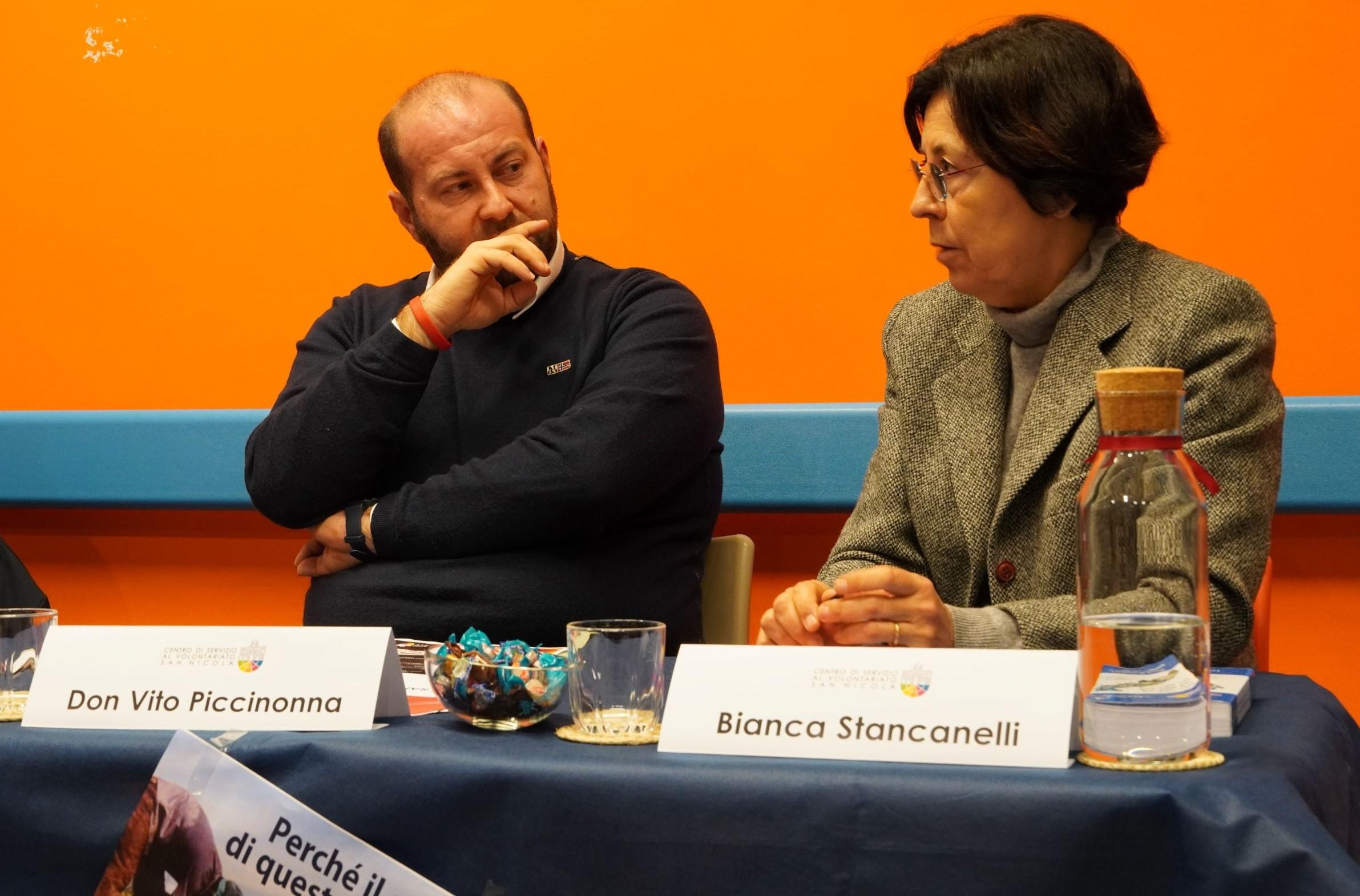 Incontro migranti e caporalato CSVSN Bianca Stancanelli e Don Vito Piccinonna