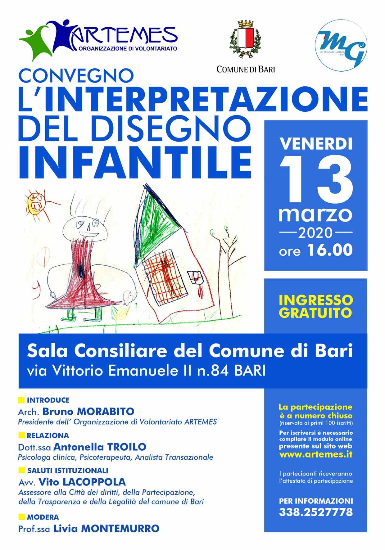 Locandina L'interpretazione del disegno infantile - ARTEMES - 2020