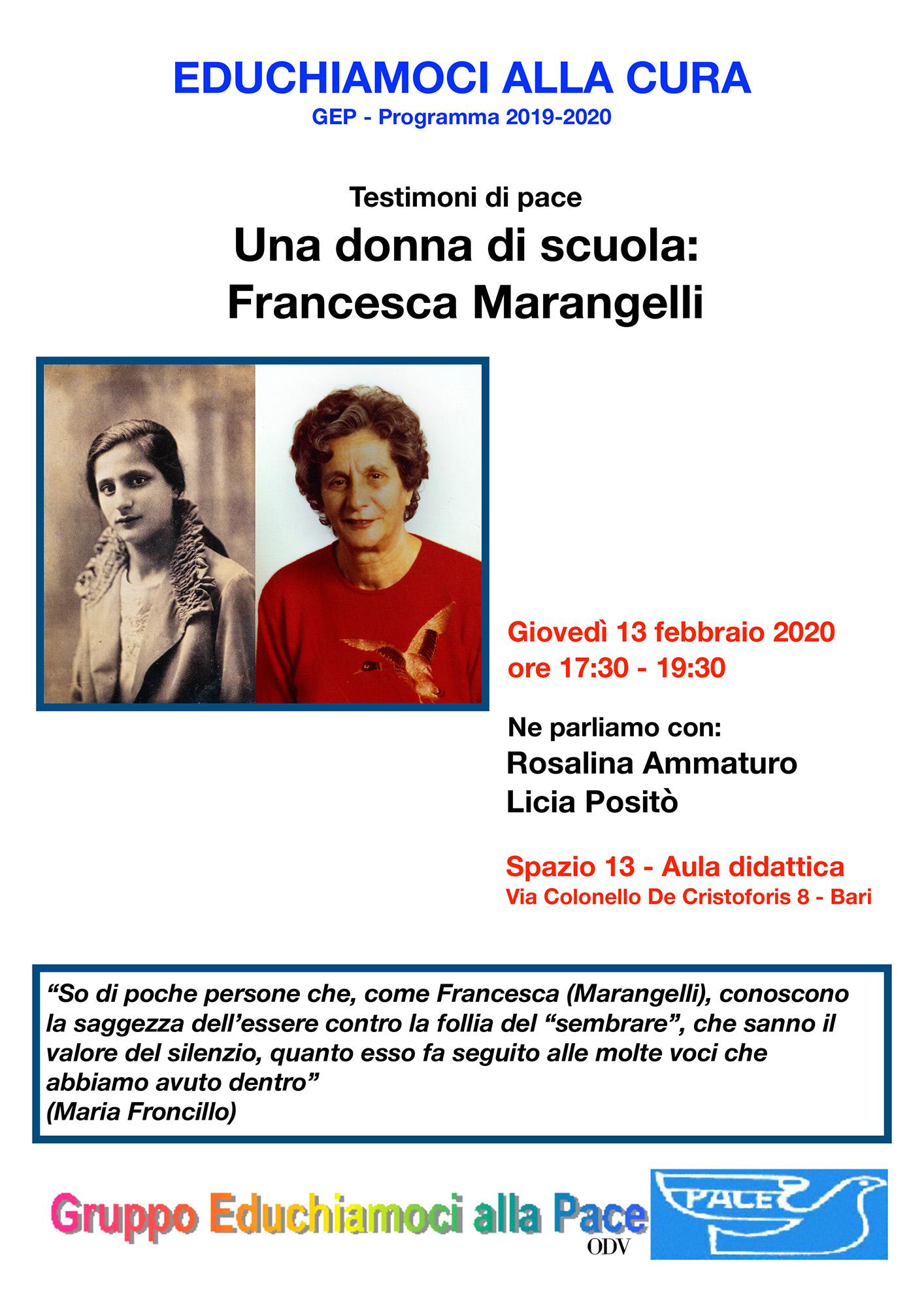 Locandina Una donna di scuola Francesca Marangelli