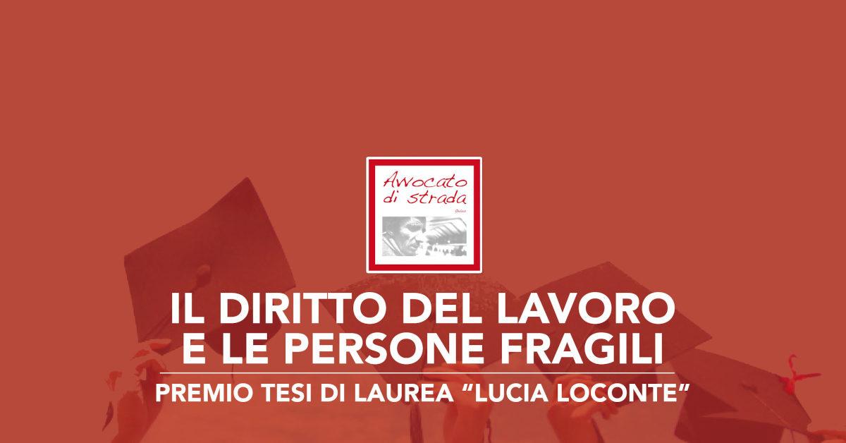 Banner Bando tesi in memoria Avvocato Lucia Loconte 2020-