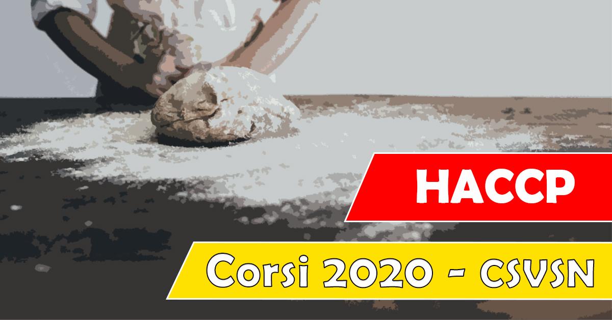 Banner HACCP per Volontari - Corsi di Formazione 2020 CSVSN
