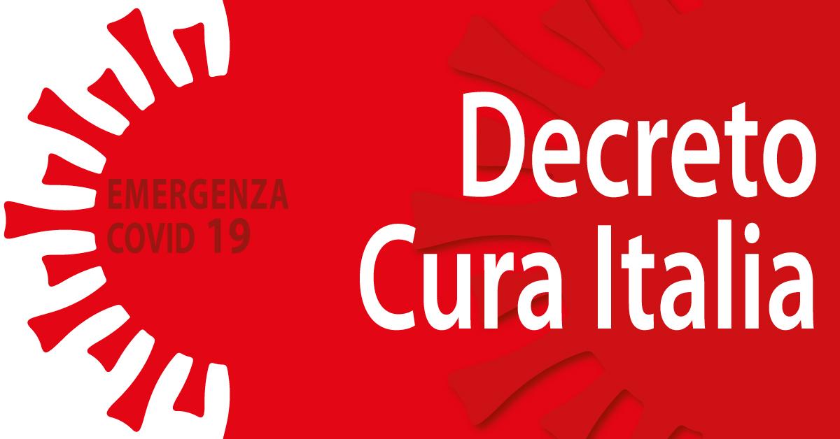 Banner emergenza coronavirus Decreto Cura Italia