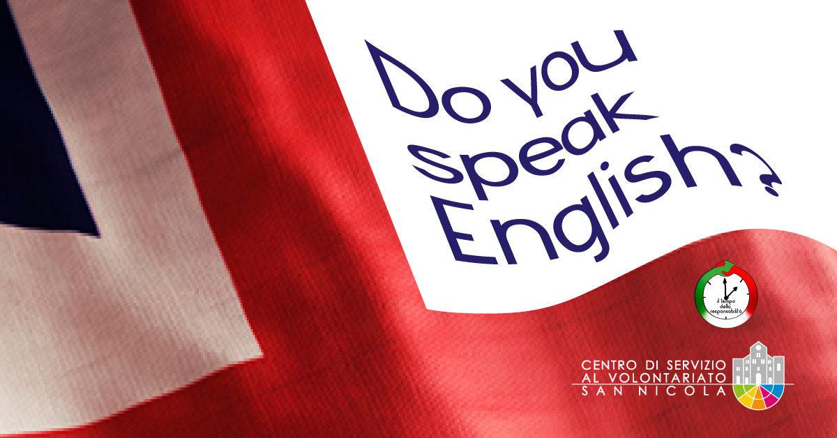 Banner Do you speak English - video lezioni per volontari