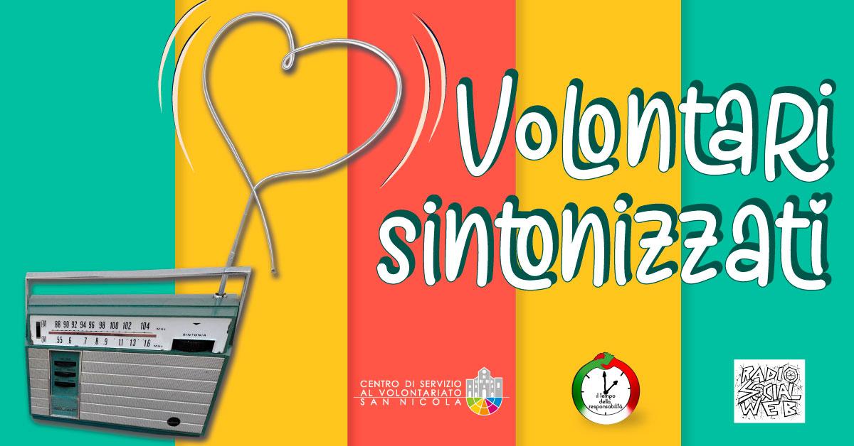 Banner Volontari Sintonizzati 2020 - CSVSN - Azioni per la coesione sociale e la comunità