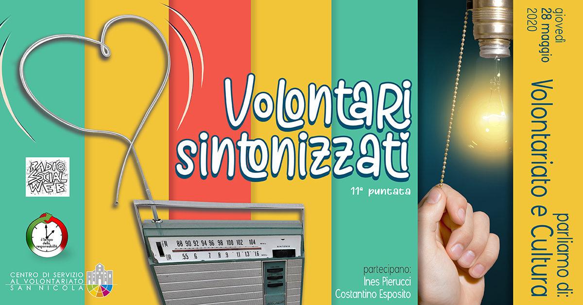 Banner Come la cultura può generare bellezza - Volontari sintonizzati - Radio Social Web - CSV San Nicola