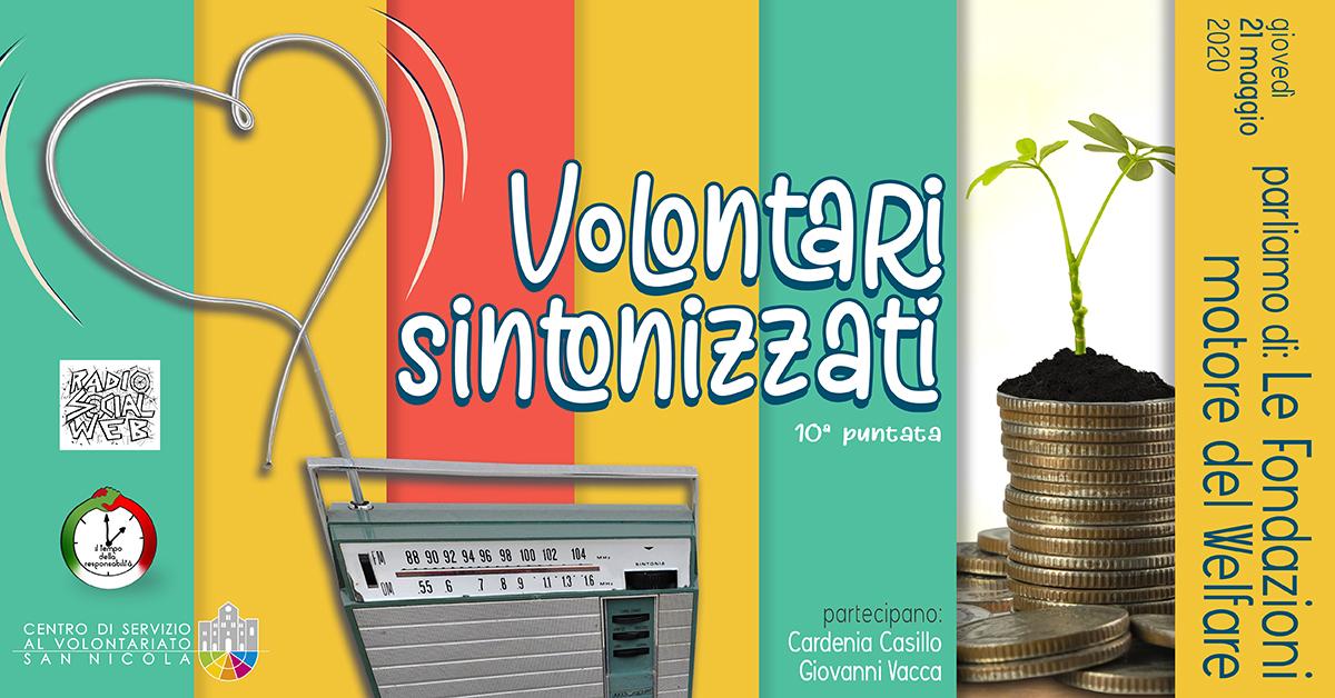 Banner Fondazioni motore del Welfare Volontari Sintonizzati CSVSN Radio Social Web