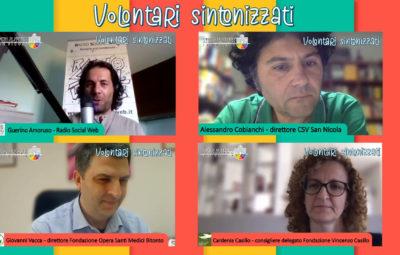 Banner Le Fondazioni motore del Welfare - Volontari sintonizzati - Radio Social Web - CSV San Nicola