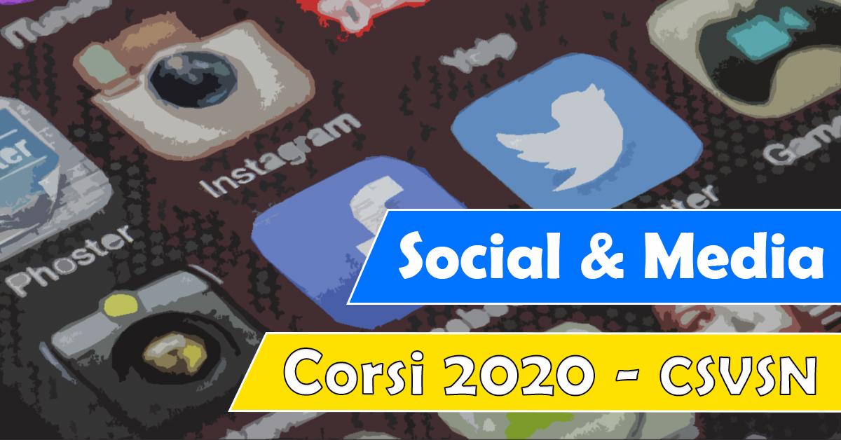Banner Social & Media corso formazione CSVSN