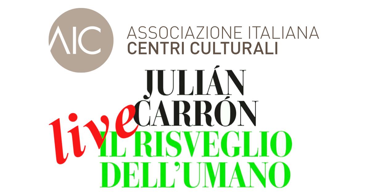 Banner presentazione libro J.Carron AIC Centro Culturale Bari maggio 2020b