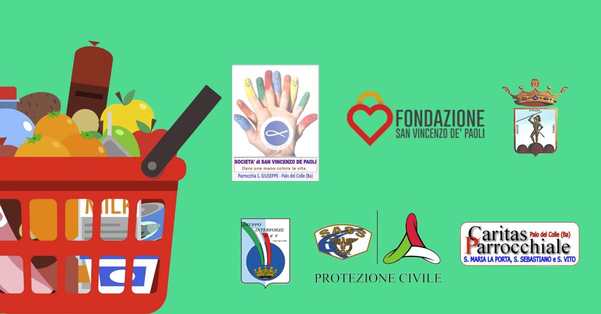 Banner raccolte alimentari straordinarie Palo del Colle 2020
