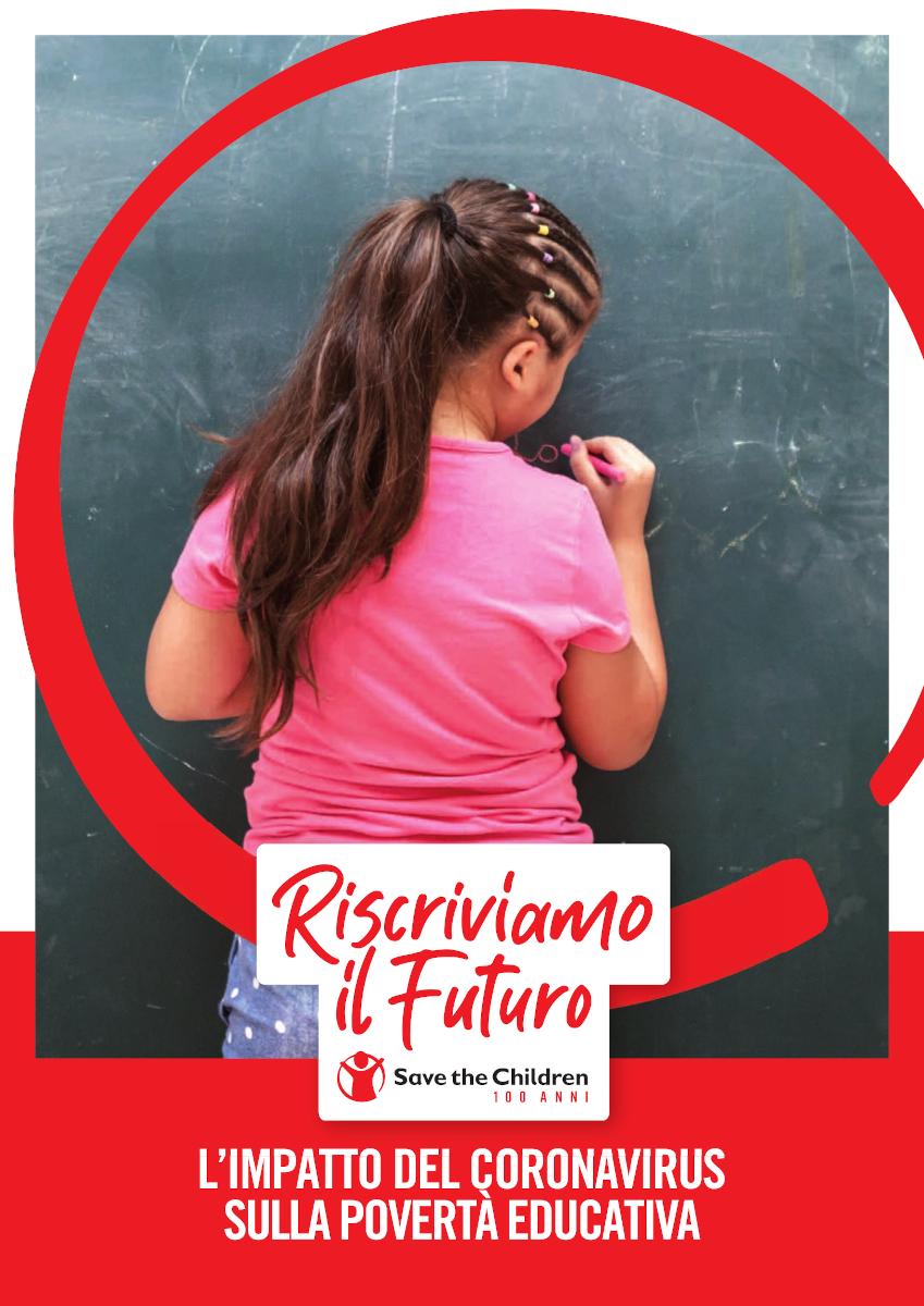 copertina Manifesto SavetheChildren Riscriviamo il futuro maggio 2020