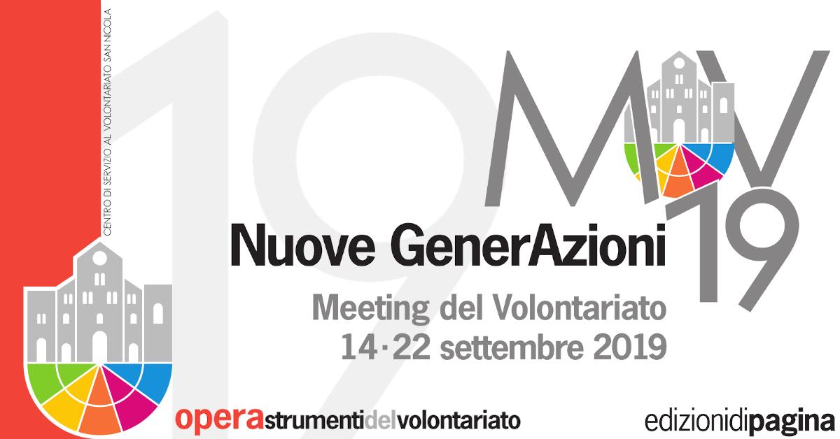 Banner Atti del Meeting del Volontariato 2019 Nuove GenerAzioni - CSVSN