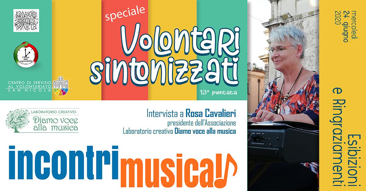 Banner Intervista Rosa Cavalieri Volontari sintonizzati Radio Social Web- CSV San Nicola