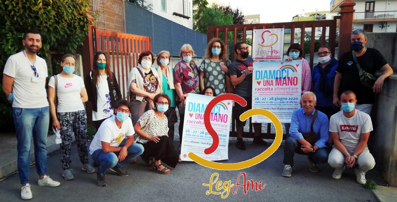 Banner raccolta alimentare Emporio solidale LegAmi giugno 2020
