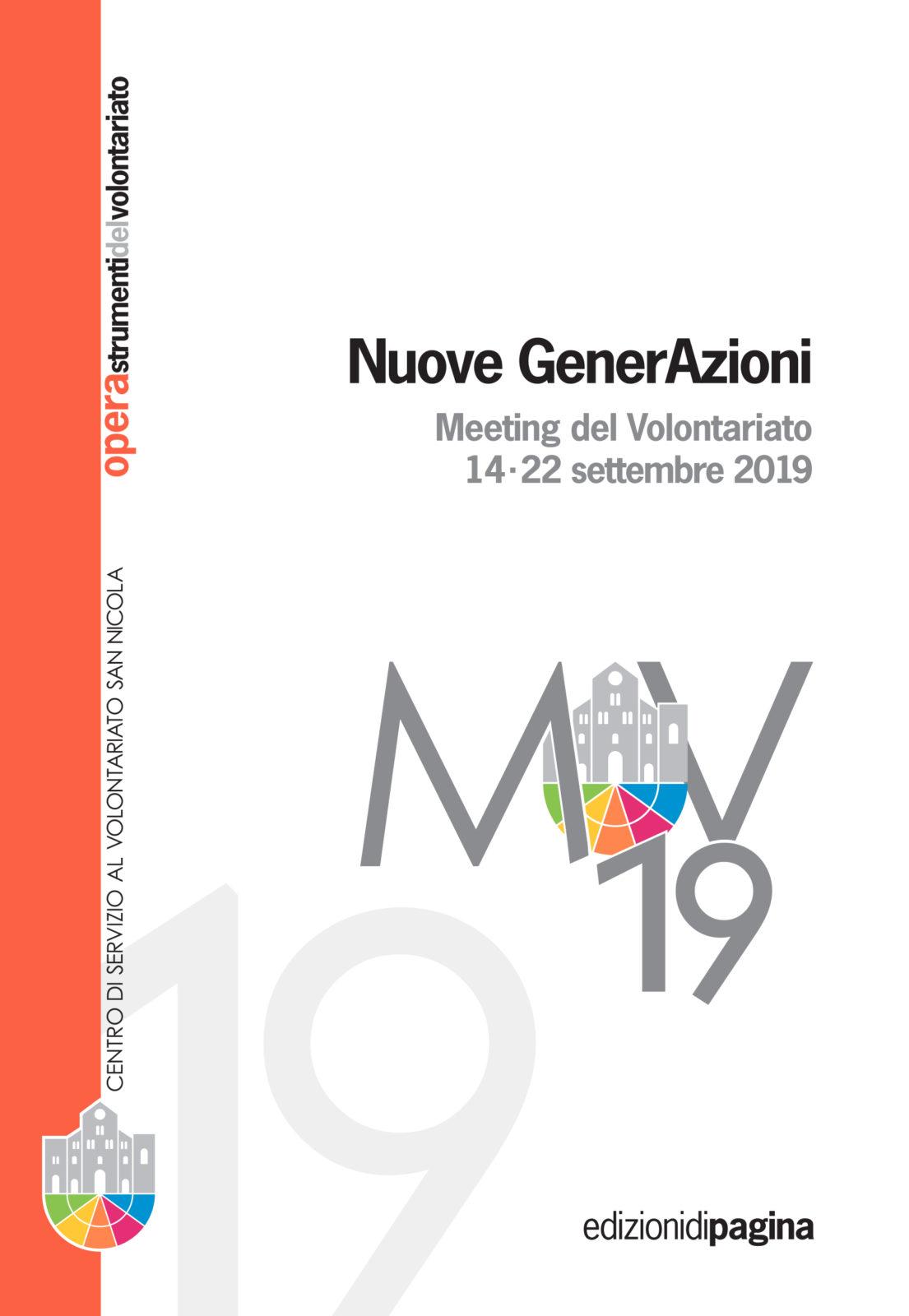 Copertina Atti del Meeting del Volontariato 2019 Nuove GenerAzioni - CSVSN