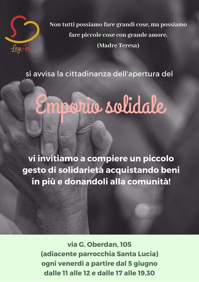 Banner Emporio Solidale LegAmi di Ruvo di Puglia