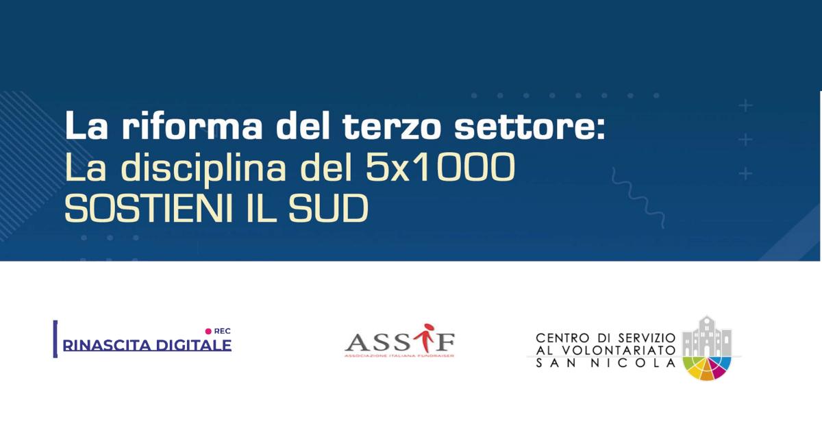 Banner La riforma del terzo settore la disciplina del 5x1000 luglio 2020