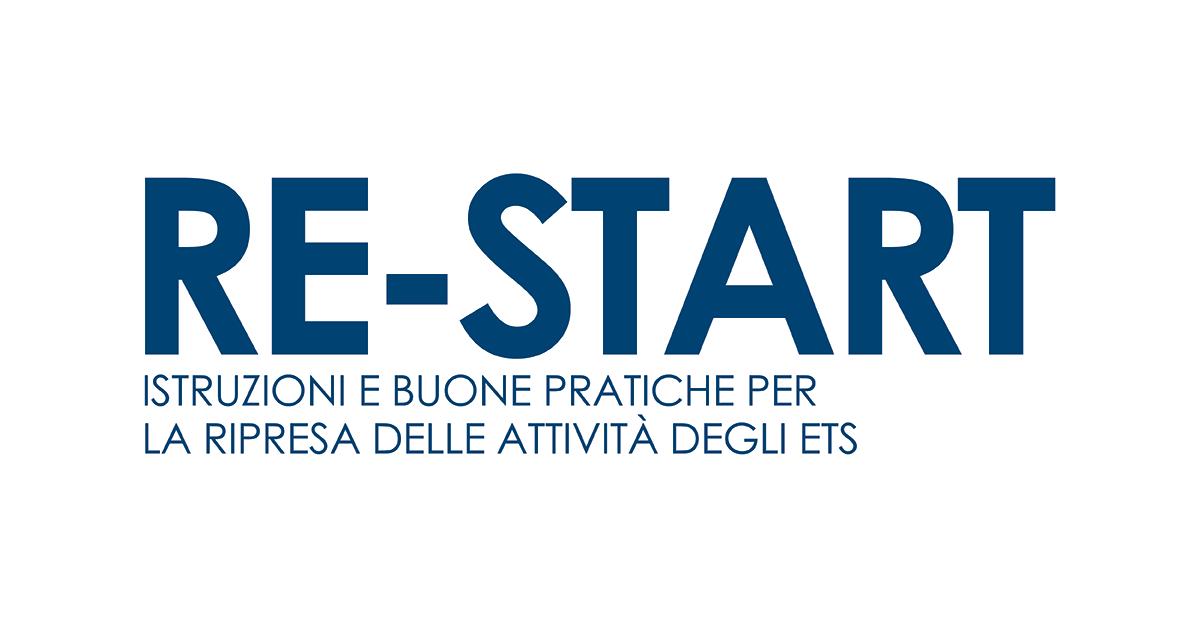 Banner dispensa RE-START Istruzioni e buone pratiche per la ripresa delle attività delle Associazioni – CSV San Nicola