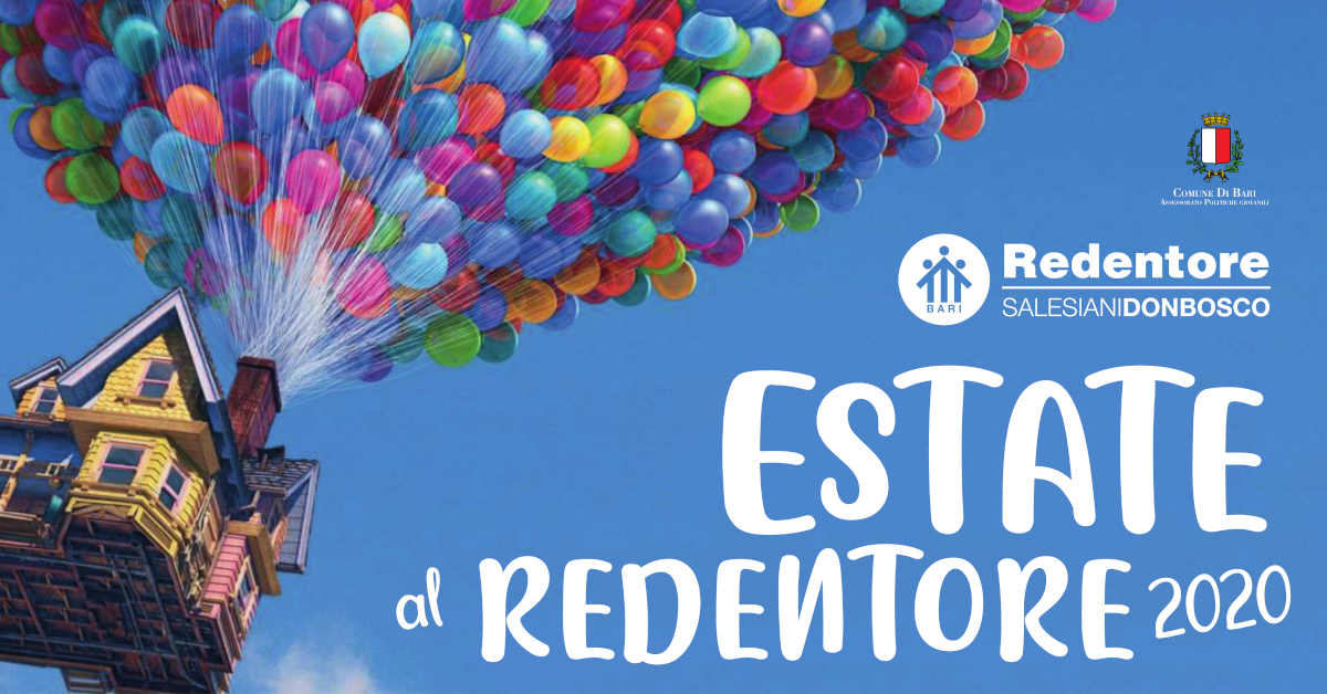 Banner seconda edizione centro estivo Estate al Redentore 2020