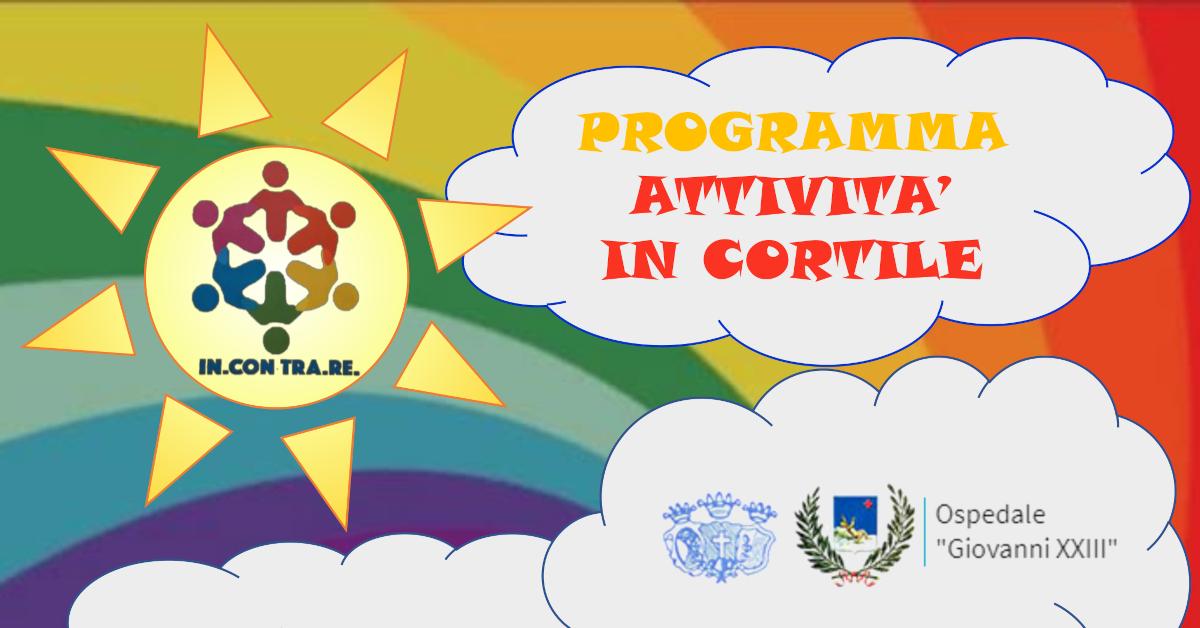 Banner attività in cortile pediatrico agosto 2020 rete incontrare