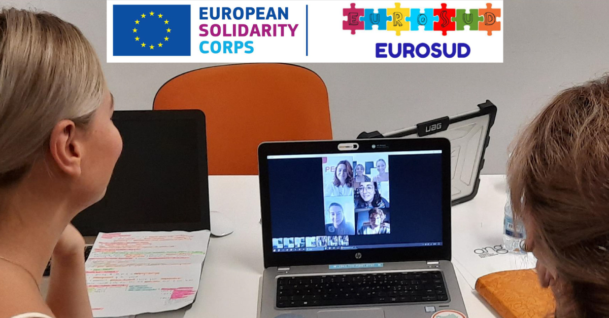 Banner Eurosud Youth and Peace e Strenghten peace and citizenship education