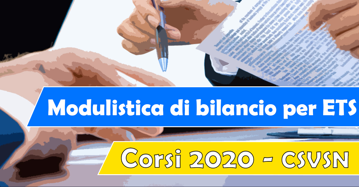 Banner Modulistica di bilancio per Enti del Terzo Settore