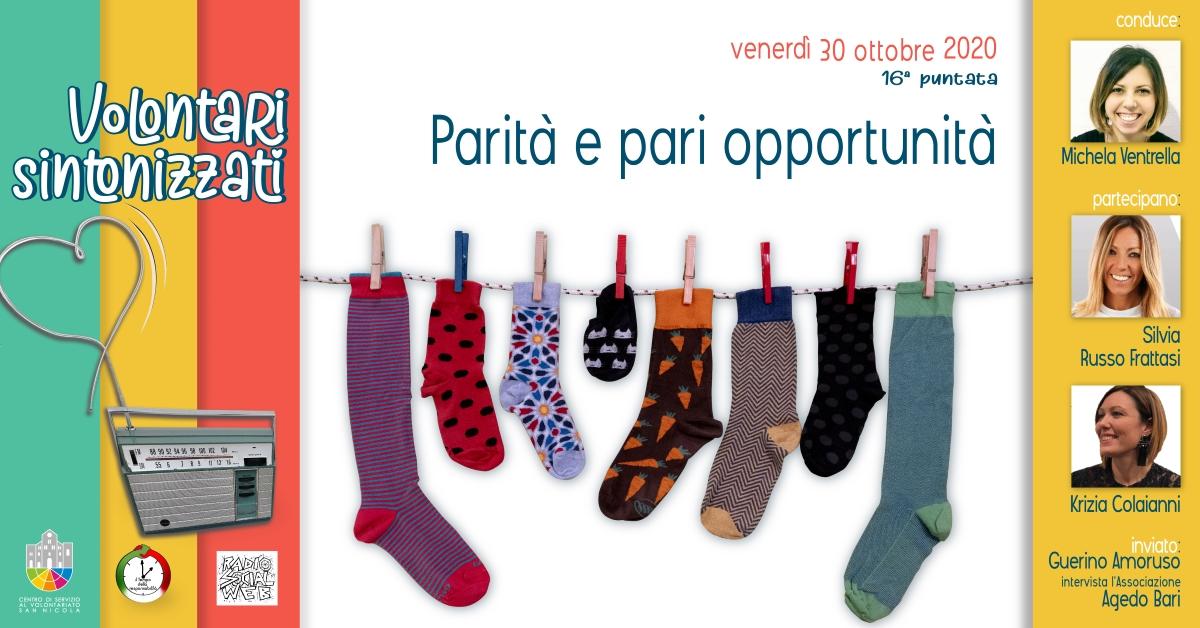 Banner Volontari sintonizzati- Parità e pari opportunità