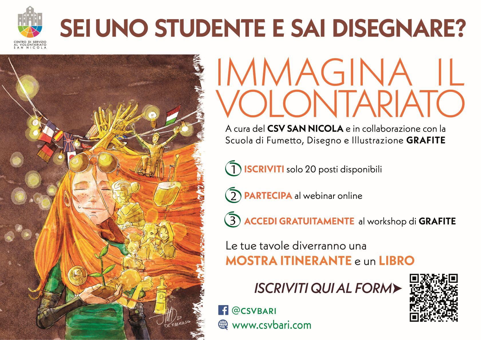 Locandina Immagina il Volontariato 2020 CSV San Nicola - Grafite nuova WEB