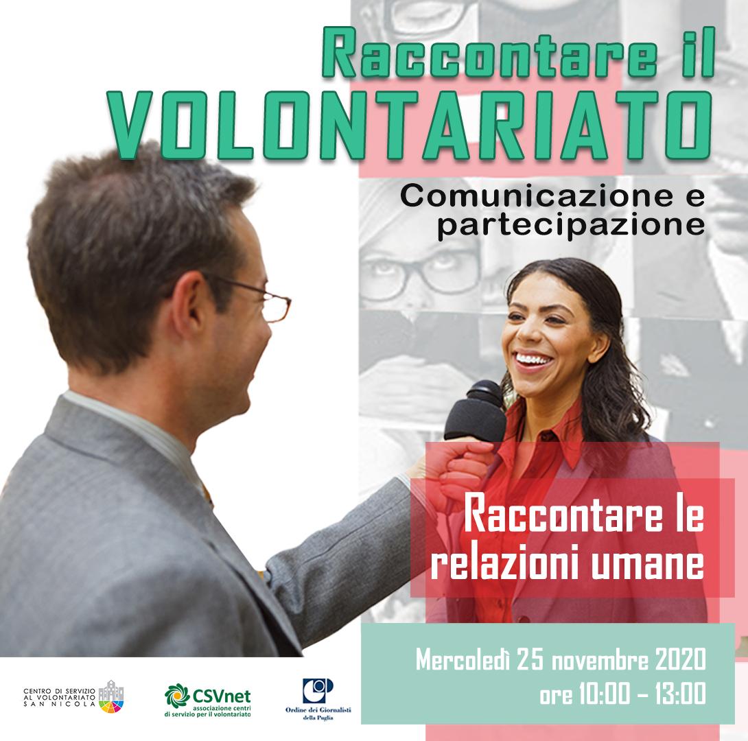 Cittadini, volontariato e relazioni umane: il racconto dei media 25 novembre