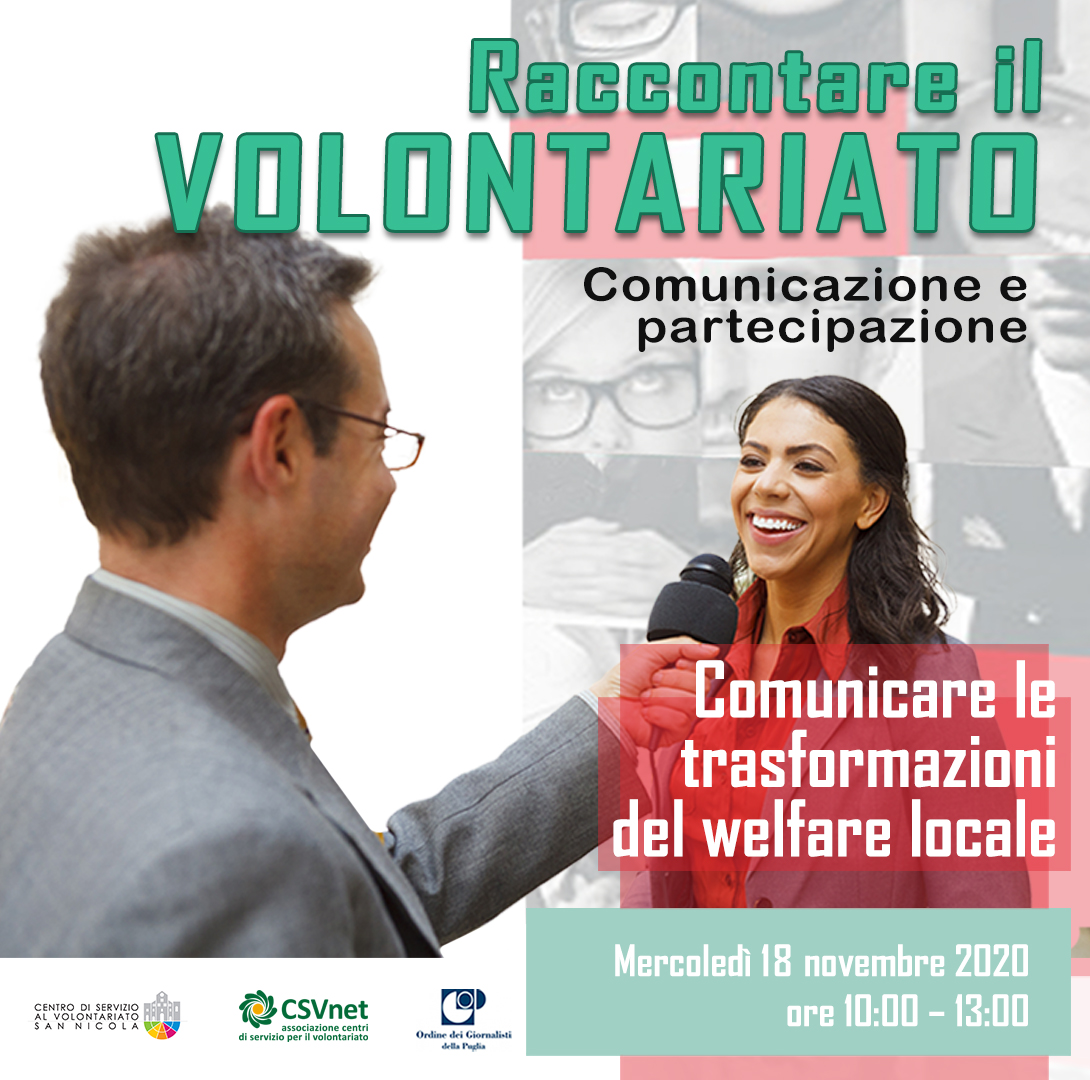 Comunicare le trasformazioni del welfare locale RACCONTARE IL VOLONTARIATO